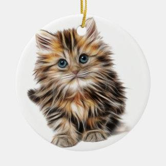 Ornement Rond En Céramique Cadeaux de chaton