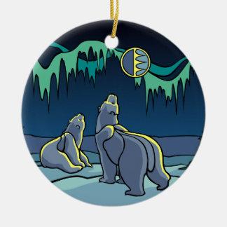 Ornement Rond En Céramique Cadeaux d'ours de souvenir d'ours d'ornement d'art