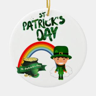Ornement Rond En Céramique Cadeaux du jour de St Patrick