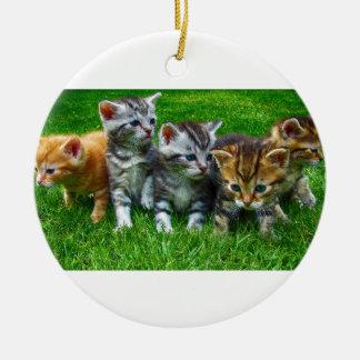 Ornement Rond En Céramique Cadeaux mignons de Kitty