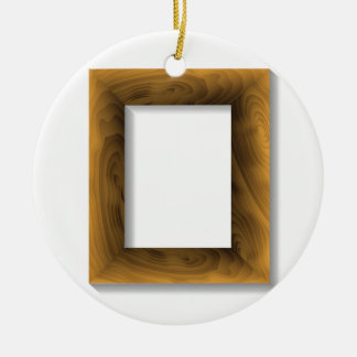 Ornement Rond En Céramique cadre en bois