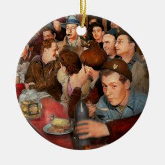 Ornement Rond En Céramique Café - Munchies de minuit 1943