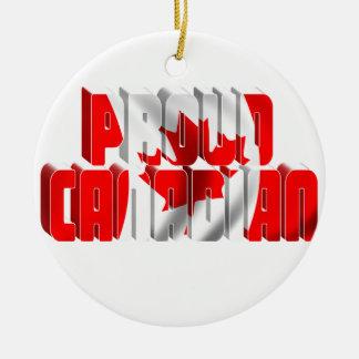 Ornement Rond En Céramique Canadien fier