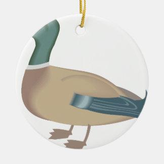 Ornement Rond En Céramique canard #4
