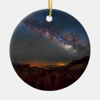 Ornement Rond En Céramique Canyon de Bryce de royaume des fées