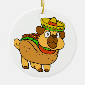 Ornement Rond En Céramique Carlin de taco