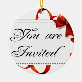 Ornement Rond En Céramique Carte d'invitation >> vous êtes invités