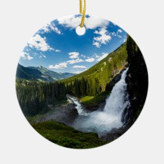 Ornement Rond En Céramique cascade de krimml, Autriche