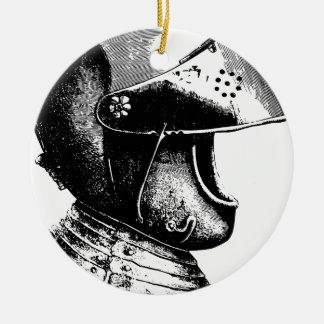 Ornement Rond En Céramique Casque de chevalier