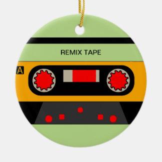 Ornement Rond En Céramique Cassette vintage des années 80