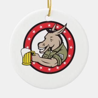Ornement Rond En Céramique Cercle de buveur de bière d'âne rétro