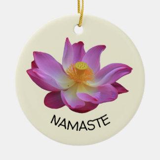 Ornement Rond En Céramique Cercle de yoga de Lotus Namaste