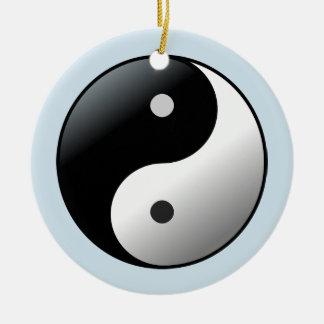 Ornement Rond En Céramique Cercle de yoga de mandala de Yin Yang