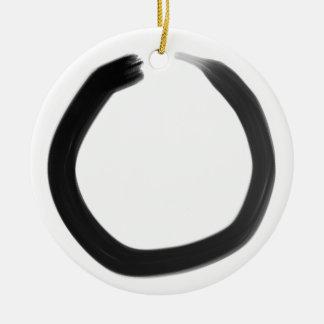 Ornement Rond En Céramique Cercle d'Enso de bouddhiste zen