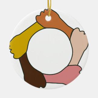 Ornement Rond En Céramique Cercle des mains
