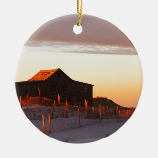 Ornement Rond En Céramique Chambre au coucher du soleil - 1
