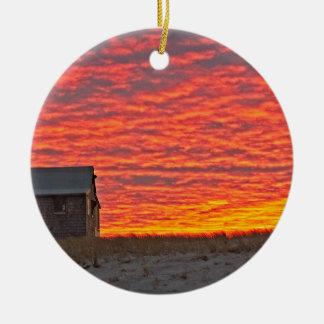 Ornement Rond En Céramique Chambre au coucher du soleil - 2