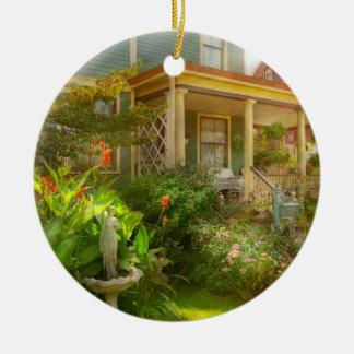 Ornement Rond En Céramique Chambre - Bevidere NJ - jardin de pays
