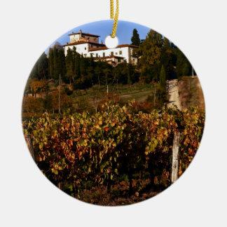 Ornement Rond En Céramique Chambre sur la colline toscane