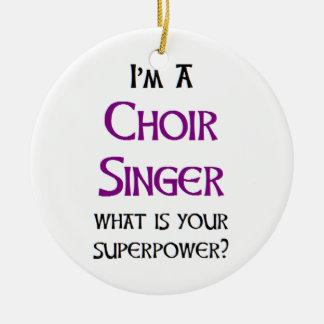Ornement Rond En Céramique chanteur de choeur