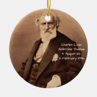 Ornement Rond En Céramique Charles Louis Ambroise Thomas