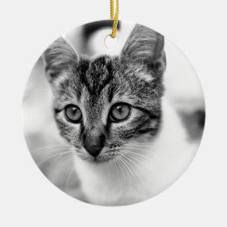 Ornement Rond En Céramique chat