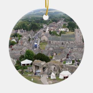 Ornement Rond En Céramique Château de Corfe, Dorset, Angleterre