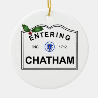 Ornement Rond En Céramique Chatham mA