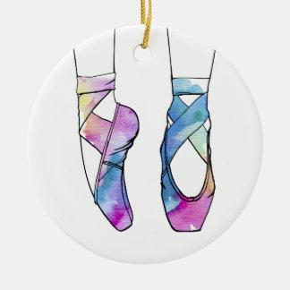 Ornement Rond En Céramique Chaussures de ballet mignonnes de danse