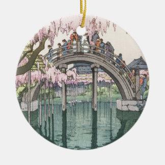 Ornement Rond En Céramique Chef d'oeuvre classique oriental vintage d'art