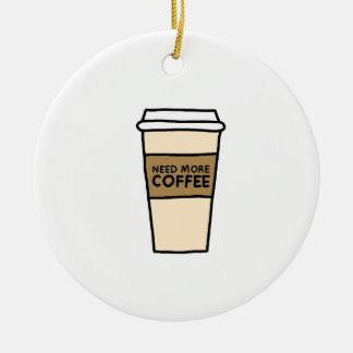 Ornement Rond En Céramique Chemises d'AMANT de CAFÉ, accessoires, cadeaux