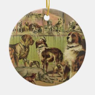 Ornement Rond En Céramique Chenil et champ de Chambre par Ives 1893