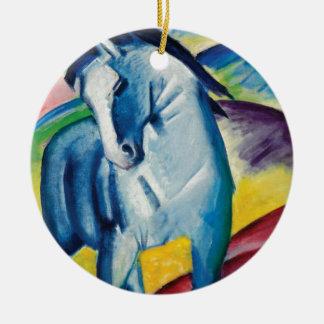 Ornement Rond En Céramique Cheval bleu I par Franz Marc