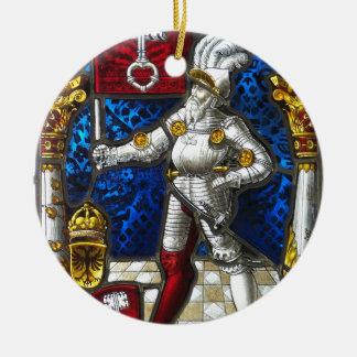 Ornement Rond En Céramique chevalier #3