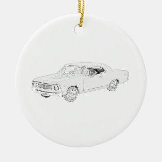 Ornement Rond En Céramique Chevy 1967 Chevelle