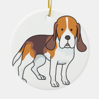 Ornement Rond En Céramique Chien de beagle