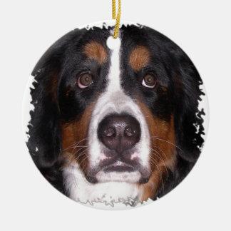 """Ornement Rond En Céramique : Chien de grand chien"""" de chien"""" de montagne """"de"""