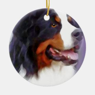 Ornement Rond En Céramique chien de montagne bernese