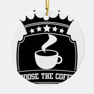 Ornement Rond En Céramique choisissez le café