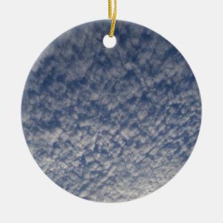 Ornement Rond En Céramique ciel de maquereau