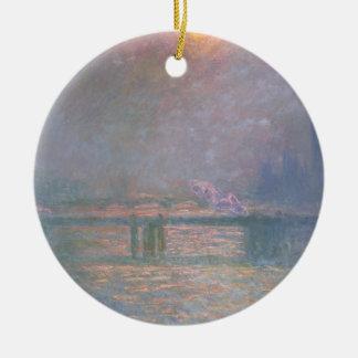 Ornement Rond En Céramique Claude Monet   la Tamise avec la croix de Charing