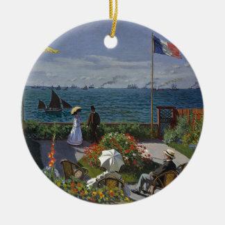 Ornement Rond En Céramique Claude Monet - le jardin à l'art de Sainte Adresse