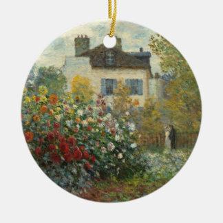 Ornement Rond En Céramique Claude Monet   le jardin de l'artiste à Argenteuil