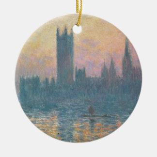 Ornement Rond En Céramique Claude Monet | les Chambres du Parlement, coucher