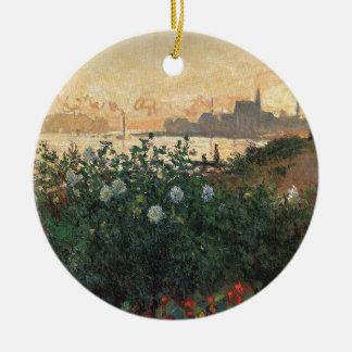 Ornement Rond En Céramique Claude Monet - rive fleurie Argenteuil