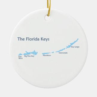 Ornement Rond En Céramique Clés de la Floride