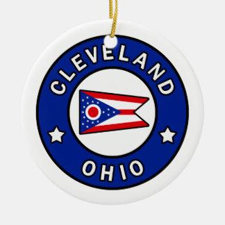 Ornement Rond En Céramique Cleveland Ohio