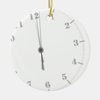 Ornement Rond En Céramique Clockface de minuit