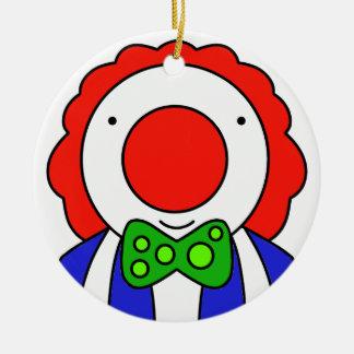 Ornement Rond En Céramique Clown drôle