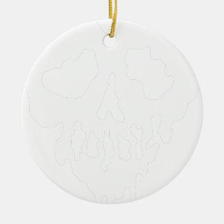 Ornement Rond En Céramique coeur de crâne